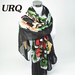 2016 foulards en coton de marque de gros Grossiste-Marque Designer 2016 luxueux écharpe papillon Femme Long Twill Coton Big Echarpes Châle X9A18436 foulards en coton de marque de gros offres