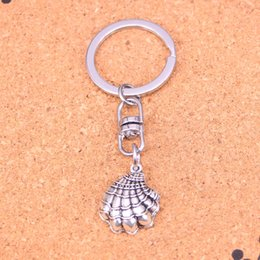 New Fashion shell Keychains Antique Silver plated Keyholder fashion Solid Pendant Keyring gift