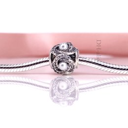 Factory Price Authentic 925 Sterling Silve Bead Luminous Love Knot Charm Charm Fit European Wmomen DIY Bracelet Necklace Jewelry 792105WCP