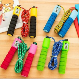 Wholesale 2017 Electronic Counting Jump Rope Skipping Rope Gym Fitness Losing Weight Jump Rope Sports Exercise Equipment m