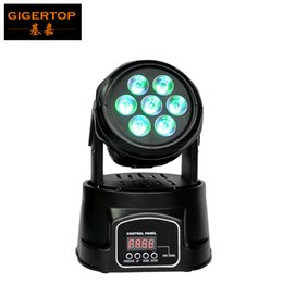 Têtes mobiles à bon marché en Ligne-Factory Direct Sell 7 * 10W 4IN1 Led Moving Head Light RGBW 4in1 Color Mixing DMX512 8/13 Channels 25 Degree Lens Mini Size Cheap Price