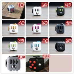 Wholesale 2016 Fidget Cube High Quality Magic Cube Material ABS Size Fidget Cube Toys For Boys Girl Best Christmas Gift