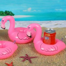 Wholesale Flamingo Drink Holder Inflatable Swim Pool Spa Kids Float Toy Party Favor gift