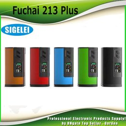 Wholesale Original Sigelei Fuchai Plus TC Box Mod W OLED Display Screen Sliding Battery Door Cover Overheating Prevention Genuine