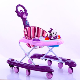 Multifunctional aChildren's electric car baby walker can remote control four wheeled battery toy car baby Strollers Rocking horse + sunshade