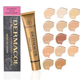 Wholesale 13 Colors Black Gold Dermacol Base Make up Cover g Primer Concealer Base Professional Face Dermacol Makeup Foundation Contour Palette