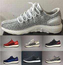 Promotion chaussures de sport pas cher Haute qualité Pure Boost 2.0 Chaussures de sport Hommes Femmes Pureboost Chaussures de course Pure Boost Trainer sports Sneaker chaussures Taille 36-45 en ligne pas cher