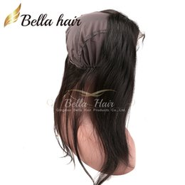 "360 Lace Frontal with Cap 22x4""Virgin Human Hair Weaves Brazilian Hair Straight Top Closures Bellahair Natural Color"