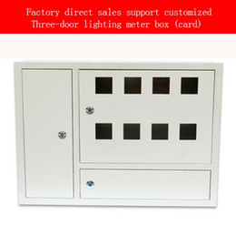 Wholesale Factory direct distribution box card type concealed lighting box easy to install safe and durable three door eight meter box