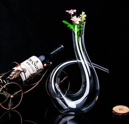 Wholesale New Handmade Crystal Red Wine Pourer Glass Decanter Brandy Decant Set Jug For Bar Champagne Water Bottle Drinking Glasses Gift