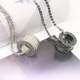 2017 New Fashion Couple Necklaces & Pendants Full Rhinestone Circle Pendants Long Necklace Jewelry Anniversary For Women