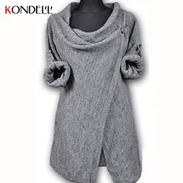 Wholesale KONDELL Womens Sweaters Fashion Autumn Chothing Winter Shrug Sweater Loose Sexy Cardigan Women Plus Size Fall Oversized Cardigan
