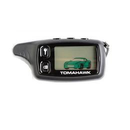 2017 sistema de alarma a distancia un coche Venta al por mayor-Rusia Tomahawk tw 9010 sistema de control remoto de dos vías de alarma de coche, llavero remoto Keyfob LCD para la seguridad del vehículo, sistema de alarma de coche económico sistema de alarma a distancia un coche