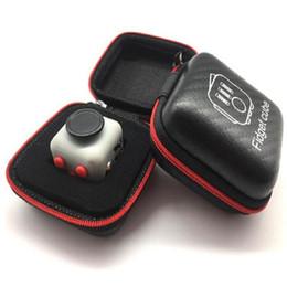 Wholesale Fidget Cube zipper case Toys Zipper Case High Quality zipper case With black colors
