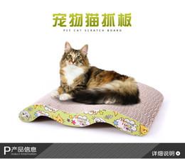 Tampons chat à gratter en Ligne-Livraison Gratuite Cat Kitten Carton ondulé Scratch Pad Scratcher Bed Mat Griffes de soins Interactive Toy pour Pet Cat Chat Training Cat