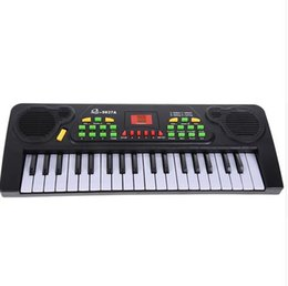 Wholesale 37 Keys Music Electronic Keyboard Kid Electric Piano Organ W Mic Adapter kids music instruments music toys gift for kid FCI