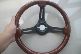 universal 350mm 35cm 14inch chrome spoke Wood Phoebe steering wheel racing car steering wheel three racing Phoebe black color
