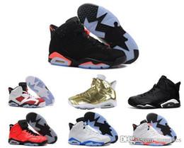 2017 chaussures de sport pas cher Nouveau 2017 de qualité supérieure à bas prix rétro 6 chaussures de basket-ball Carmine Oreo infrarouge chaussures sport noir rouge chaussure en ligne vente en gros nous taille 8-13 chaussures de sport pas cher à vendre