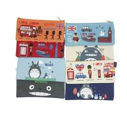 2017 enfants de bande dessinée étudiants sacs En gros-Cute Kawaii belle Cartoon Totoro Etudiant crayon stylo sac Papeterie cadeau pour les enfants Bureau de l'école budget enfants de bande dessinée étudiants sacs