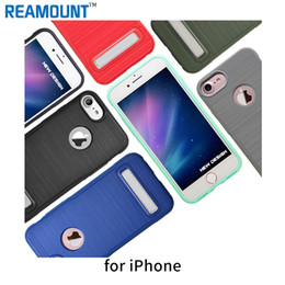 Wholesale Soft TPU Kickstand Case for iPhone 7 7 plus Transparent luxury cover cover with stand for iPhone 6 6 plus