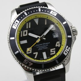 Regarder bracelet en caoutchouc noir à vendre-AAA qualité de luxe nouvelle marque 1884 montre Brei hommes automatique chronomètre Superocean noir cadran caoutchouc sangle spuer original fermoir montres mens