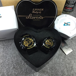 Wholesale Top Quality BABY G Men Women LED watches Waterproof Lovers Couple Shocked G100 watches G Presents Heart Original Box