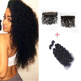 13*4 Lace Frontal Closure 7A Grade Peruvian Virgin Hair Natural Wave 2 Bundles Natural Wave With Frontal Closure Cheap 100% Human Hair