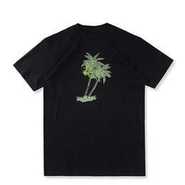 US Size 2017 High Quality stus palms tee T-Shirts Men Women 100% Cotton Logo Tee Coconut trees Print High Street Skateboards T-shirt