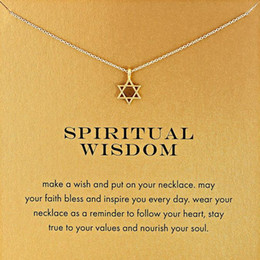 With card! Silver and gold color cute Dogeared Necklace with star pedant (spiritual wisdom), no fade, free shipping and high quality.
