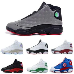 Wholesale With Box air Retro cement grey toes Mens Basketball Shoes Retro XIII bred flints grey toe He Got Game hologram barons Sports sneakers