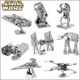 Wholesale Fascinations Metal Earth D Laser Cut Model Star Wars The Force Awakens d Metal Nano Puzzle Model Toy for Adult and Kids