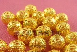 Wholesale Hot Sale Newest Gold Plated Ornate Filigree Spacer Beads Charm Pendants Jewelry DIY Accessory Jewelry Making