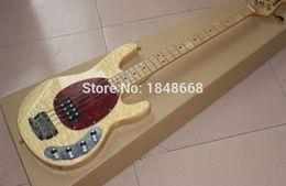 Fábrica de China 4 cuerdas hombre de la música Erime Ball StingRay guitarra baja color madera desde hombre de raya de música proveedores