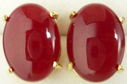 red jade Earrings Costume Jewellery women Earrings
