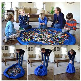 Portable 150cm Enfants Enfants Enfant Baby Play Mat Grand sacs de rangement Jouets Organisateur Couverture Couverture Rug Boxes pour tous les cadeaux Jouets à partir de stockage pour les jouets fournisseurs