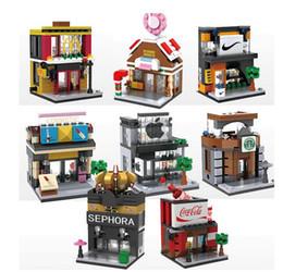 2017 innovation, children's puzzle mini diamond plastic building blocks, street view combination into the city scene, play the DIY ability
