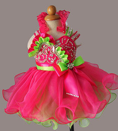 Wholesale Sell like hot cakes Glitz Beaded Bodice Infant toddler baby kids Girl s Baby Doll Pageant Dress