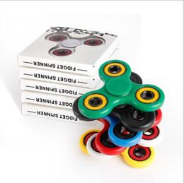 Boîte d'araignée jouet en Ligne-Spinner Spirale à la main Spirale Spider Fidget Spinner Spinner à la main Acrylique Plastique Fidgets Jouets Jouets Gyro Avec Boîte Détail YH796