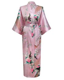 Wholesale Brand New Wedding Bride Bridesmaid Robe Satin Rayon Bathrobe Nightgown For Women Kimono Sleepwear Flower Plus Size S XXXL