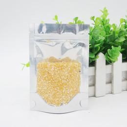Wholesale Stand translucent aluminium ziplock bag Clear reclosable aluminum mylar plastic pouch zipper seal Spot package