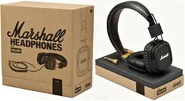 MARSHALL monitor Major Headset With Mic Deep Bass DJ Hi-Fi Headphones HiFi monitor Headband Earphones Professional DJ Headphones hot