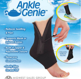Wholesale Ankle Genie Zip UP Compression Support Sport Protective Ankle Brace Foot Cares Supply Ankle Support One Size Fits All Piece Packing Box