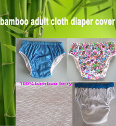 Wholesale 2 color sizes chioce waterproof Adult cloth diaper cover Nappy nappies bamboo diaper diapers S M L