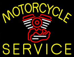Wholesale Motorcycle Motor Service Neon Sign Custom Handmade Real Glass Shop Store Club Company Advertising Display Decoration Neon Signs quot X14 quot