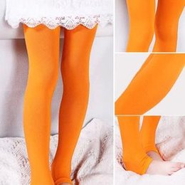 Retail Sweet Candy Solid Velvet Children Kids Stirrup Girl Leggings Spring Autumn