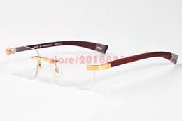 533b84a17e7822 2017 marque designer lunettes hommes sans monture lunettes de soleil plaine  blanc cadre en métal sans monture buffle lunettes lunettes de soleil  lentille ...