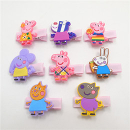 Wholesale Girl Hair clips Barrettes Hair accessories Hotsale cartoon pig Cute baby gifts Animal Boutique Accessories European Pink