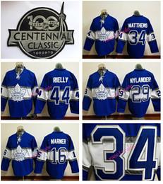 Wholesale 100th Toronto Maple Leafs Mitch marner William Nylander Auston Matthews Morgan Rielly Hockey Stitched jersey Mix order