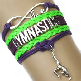 Wholesale Pieces Infinity Love Gymnastics Bracelet Best Gift for Gymnast Gymnastics Fans Custom Any Themes Drop Shipping
