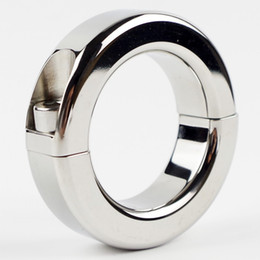 Scrotum Bondage Gear Ball Stretcher Male Penis Cock Ring Stainless Steel Metal Chastity Ring Adultsex Toy